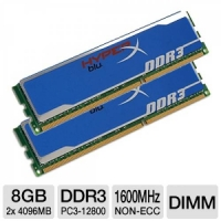 Kingston DDR3-1600 8192MB PC3-12800 Kit 2x4096MB HyperX Blu