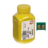 Тонер + чип HP CLJ CP1025 Yellow (35гр) (АНК, 1500128)